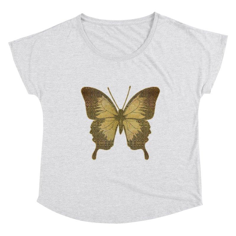 Golden Butterfly Women's Dolman Scoop Neck by zuzugraphics's Artist Shop