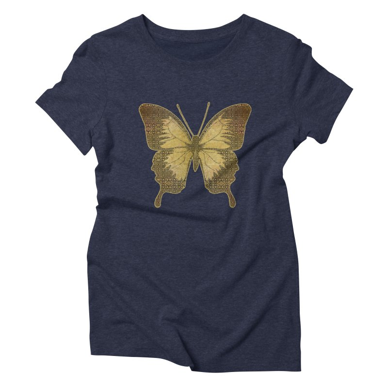 Golden Butterfly Women's Triblend T-Shirt by zuzugraphics's Artist Shop