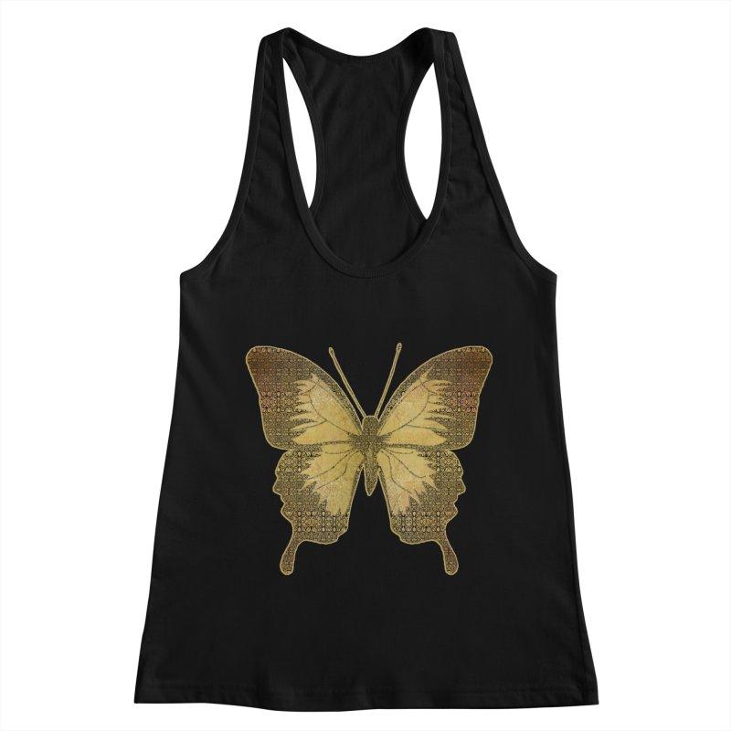 Golden Butterfly Women's Tank by zuzugraphics's Artist Shop
