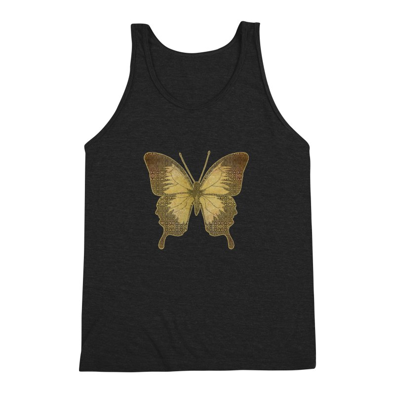 Golden Butterfly Men's Triblend Tank by zuzugraphics's Artist Shop
