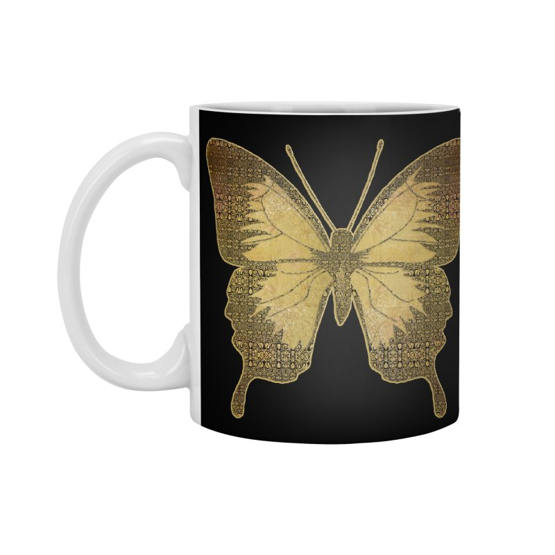 Golden Butterfly Accessories Mug by zuzugraphics's Artist Shop