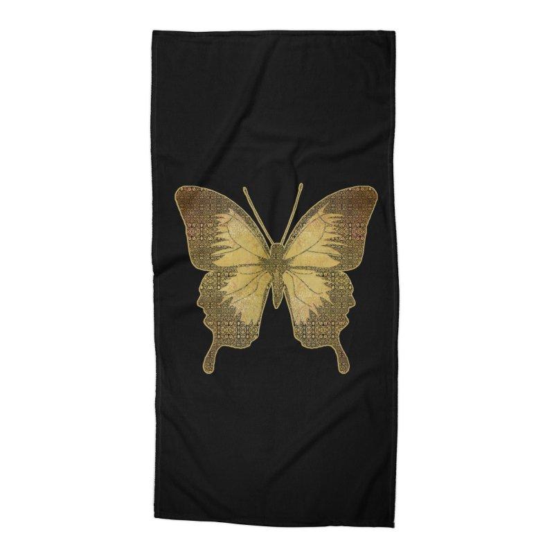 Golden Butterfly Accessories Beach Towel by zuzugraphics's Artist Shop