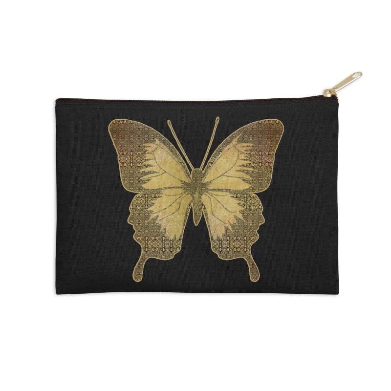 Golden Butterfly Accessories Zip Pouch by zuzugraphics's Artist Shop