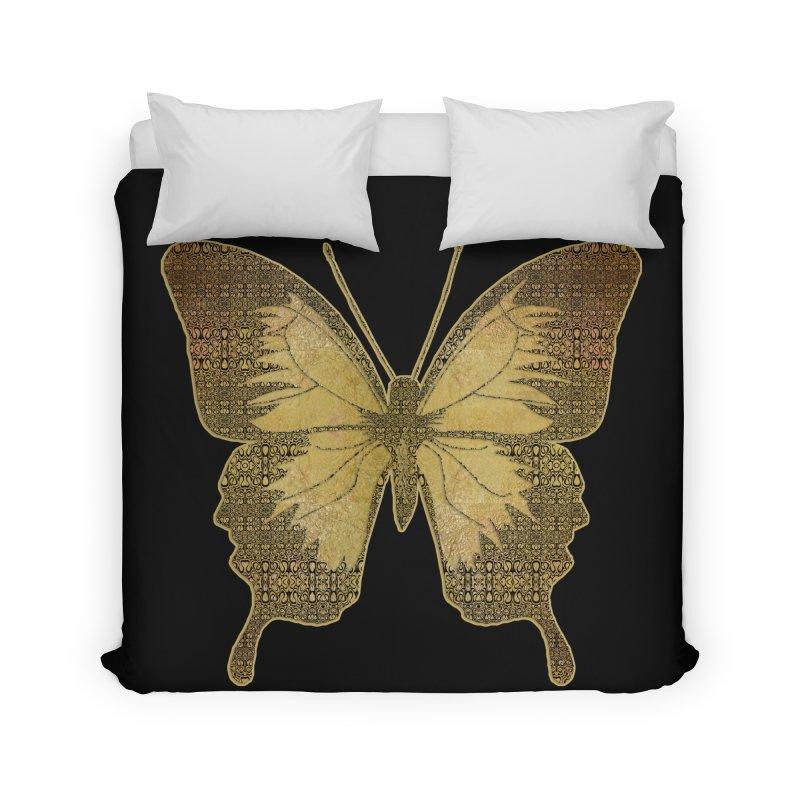 Golden Butterfly Home Duvet by zuzugraphics's Artist Shop