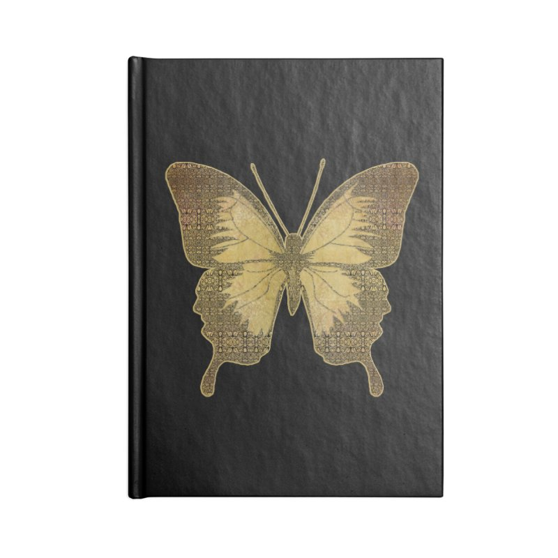 Golden Butterfly Accessories Lined Journal Notebook by zuzugraphics's Artist Shop