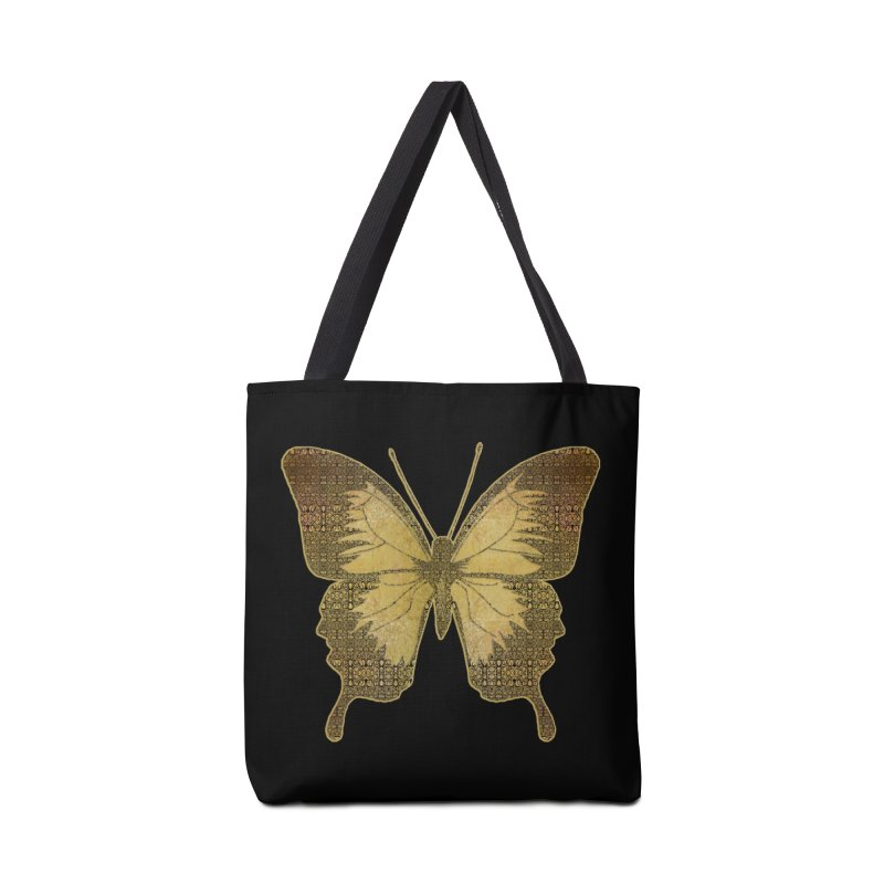 Golden Butterfly Accessories Bag by zuzugraphics's Artist Shop
