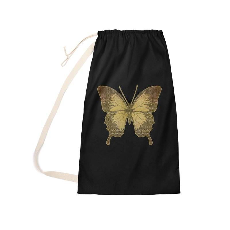 Golden Butterfly Accessories Laundry Bag Bag by zuzugraphics's Artist Shop