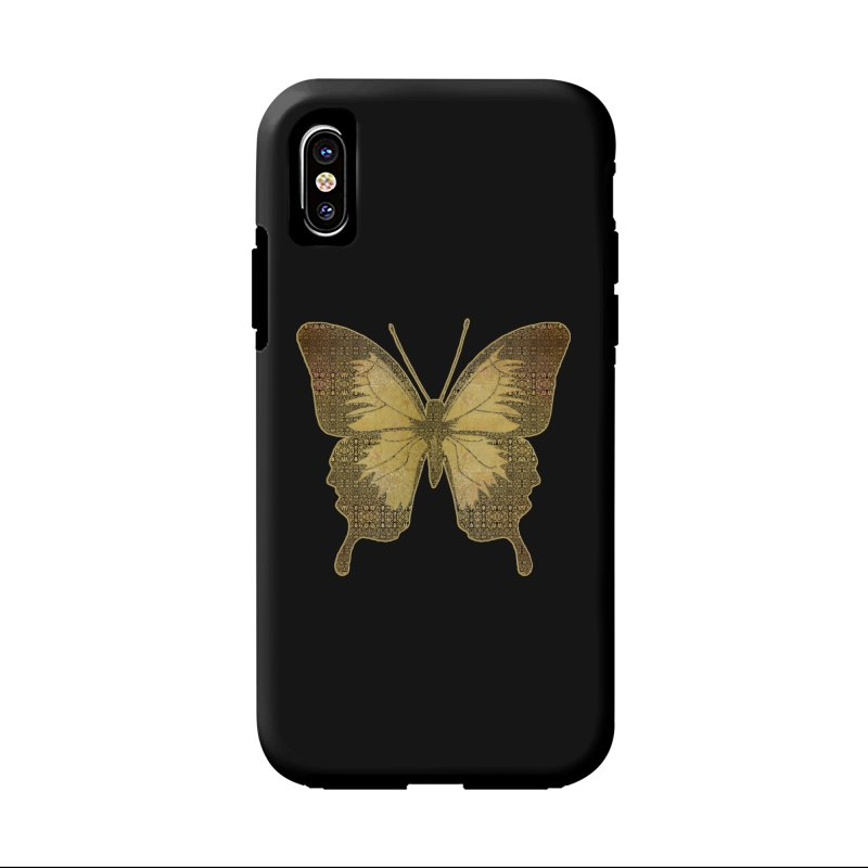 Golden Butterfly Accessories Phone Case by zuzugraphics's Artist Shop