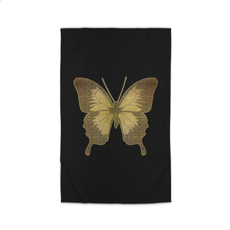 Golden Butterfly Home Rug by zuzugraphics's Artist Shop