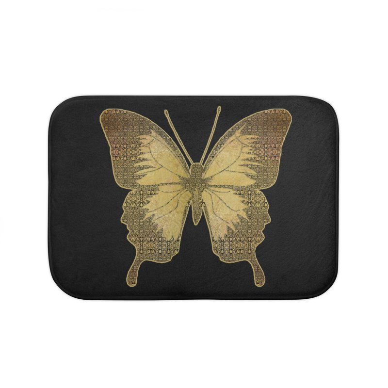 Golden Butterfly Home Bath Mat by zuzugraphics's Artist Shop