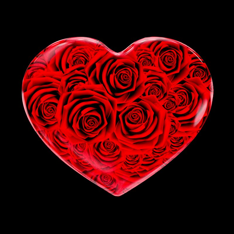 Red Roses Heart None  by zuzugraphics's Artist Shop