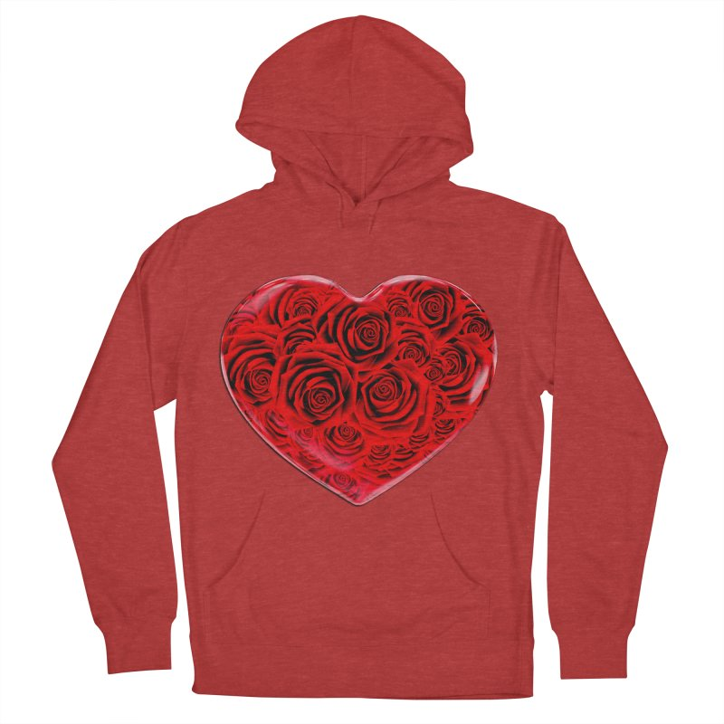 Red Roses Heart Women's Pullover Hoody by zuzugraphics's Artist Shop