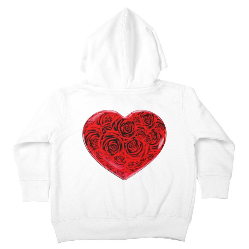 Red Roses Heart Kids Toddler Zip-Up Hoody by zuzugraphics's Artist Shop