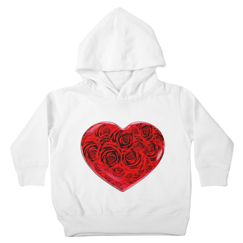 Red Roses Heart Kids Toddler Pullover Hoody by zuzugraphics's Artist Shop