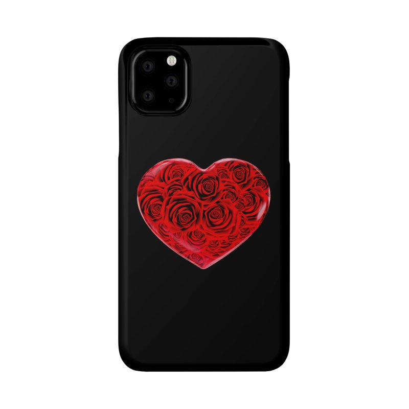 Red Roses Heart Accessories Phone Case by zuzugraphics's Artist Shop