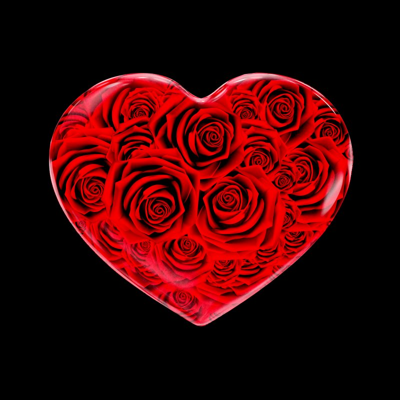 Red Roses Heart by zuzugraphics's Artist Shop