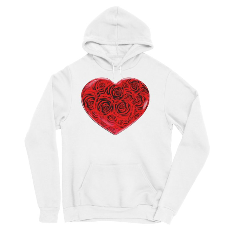 Red Roses Heart Men's Pullover Hoody by zuzugraphics's Artist Shop