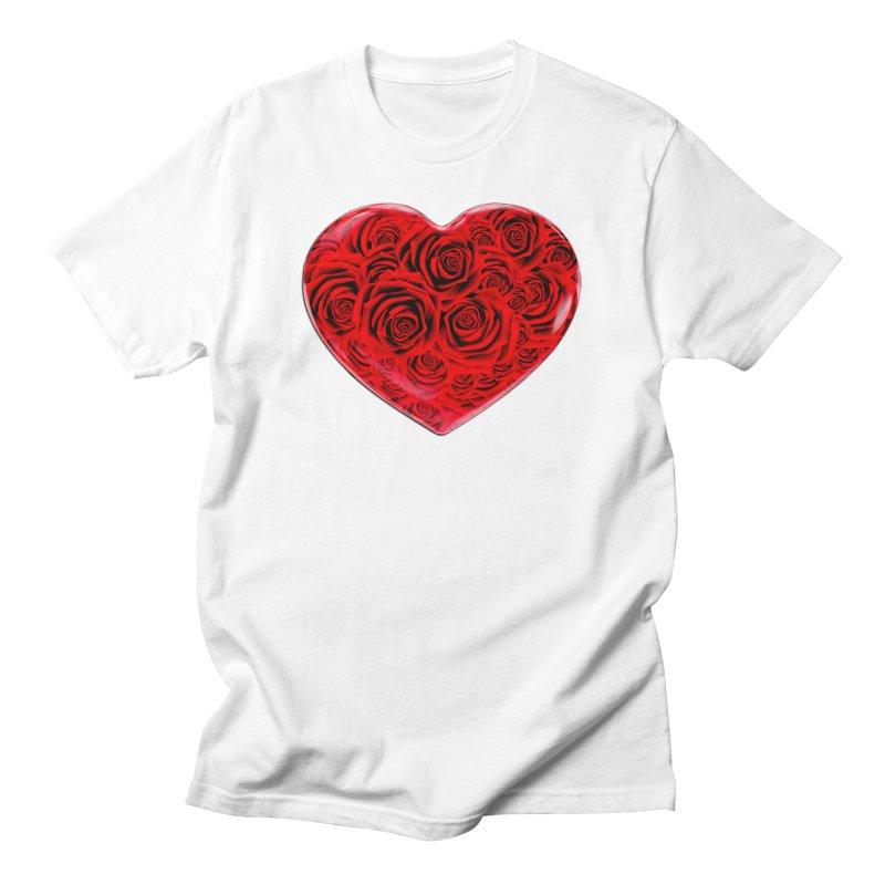Red Roses Heart Men's T-Shirt by zuzugraphics's Artist Shop