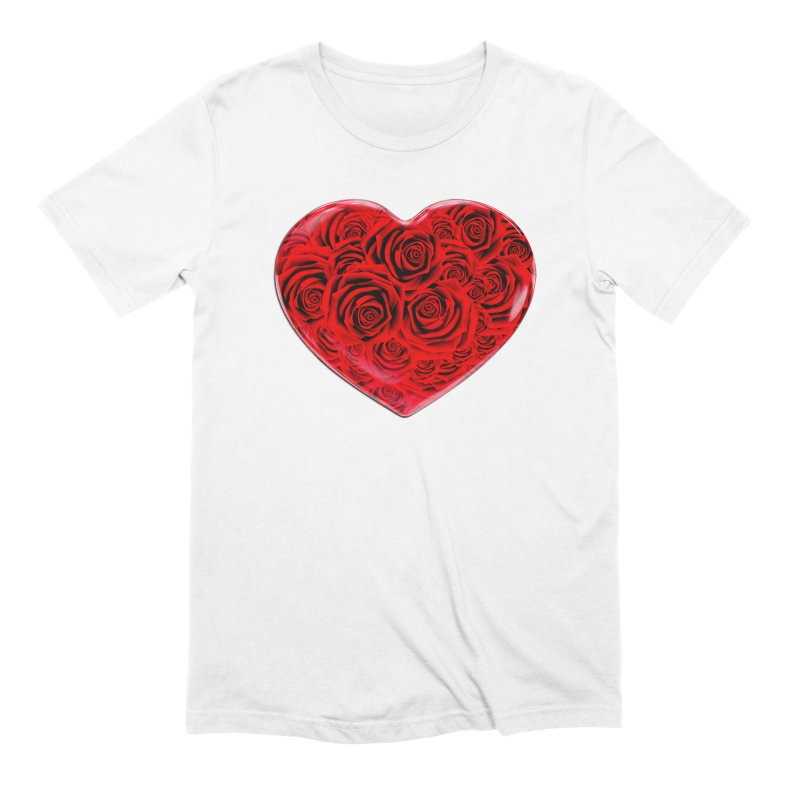 Red Roses Heart Men's Extra Soft T-Shirt by zuzugraphics's Artist Shop
