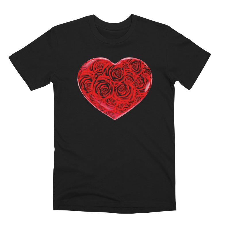 Red Roses Heart Men's Premium T-Shirt by zuzugraphics's Artist Shop