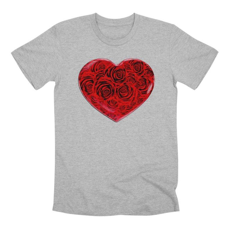 Red Roses Heart Men's Premium T-Shirt by zuzugraphics's Artist Shop
