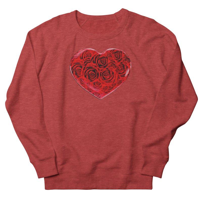 Red Roses Heart Women's Sweatshirt by zuzugraphics's Artist Shop