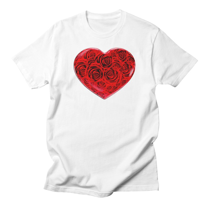 Red Roses Heart Men's T-Shirt by zuzugraphics's Artist Shop