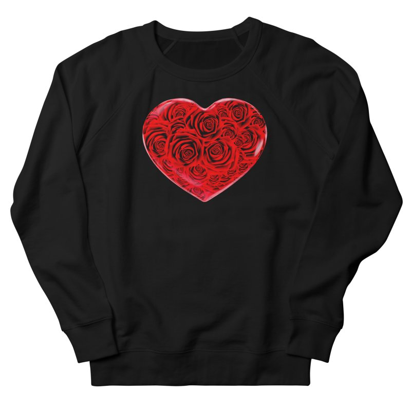 Red Roses Heart Men's Sweatshirt by zuzugraphics's Artist Shop