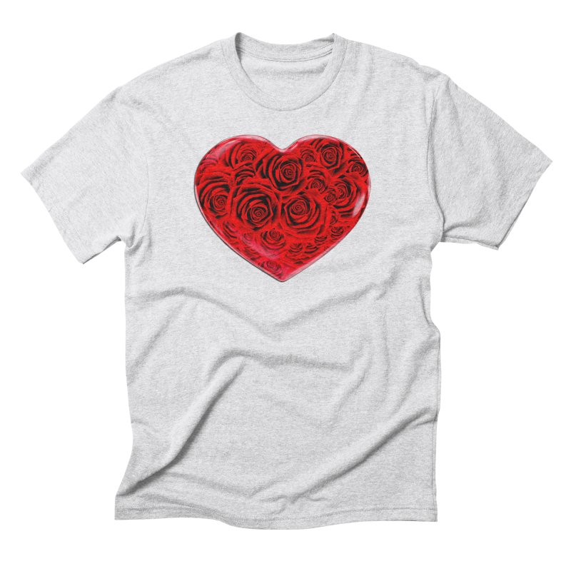Red Roses Heart Men's Triblend T-Shirt by zuzugraphics's Artist Shop