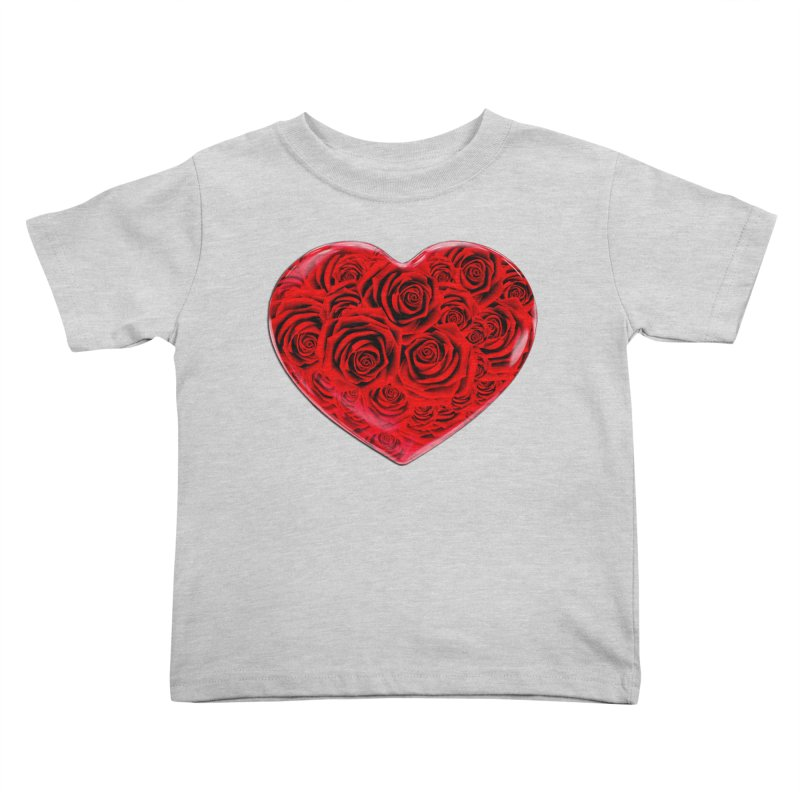 Red Roses Heart Kids Toddler T-Shirt by zuzugraphics's Artist Shop