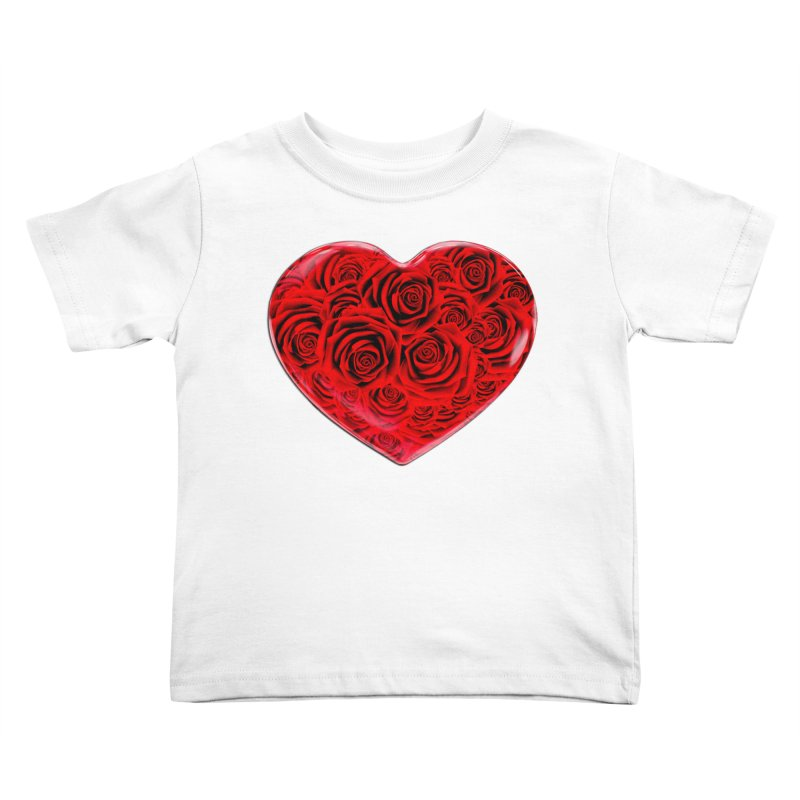 Red Roses Heart Kids Toddler T-Shirt by zuzugraphics's Artist Shop