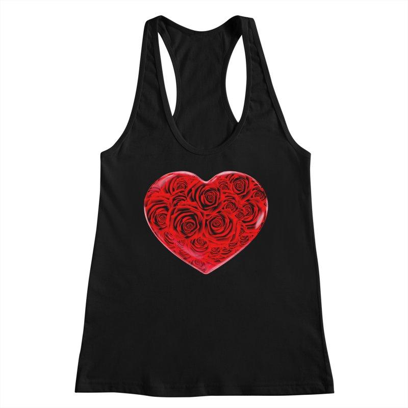 Red Roses Heart Women's Tank by zuzugraphics's Artist Shop