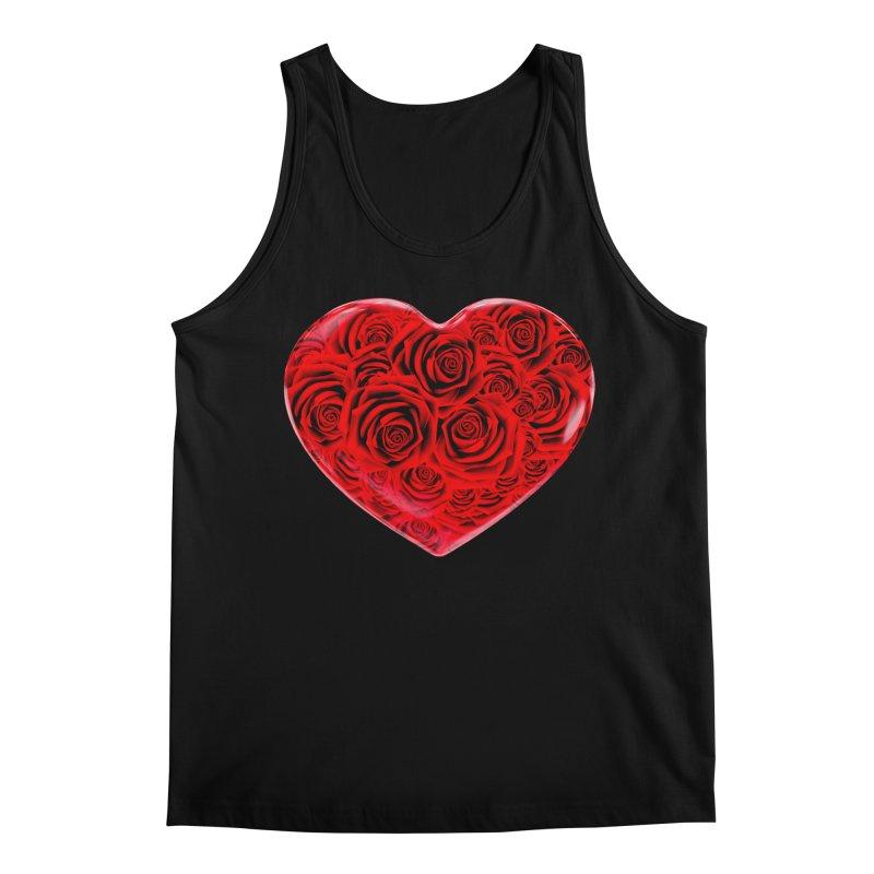 Red Roses Heart Men's Regular Tank by zuzugraphics's Artist Shop