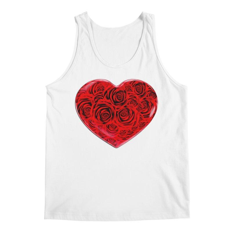Red Roses Heart Men's Tank by zuzugraphics's Artist Shop