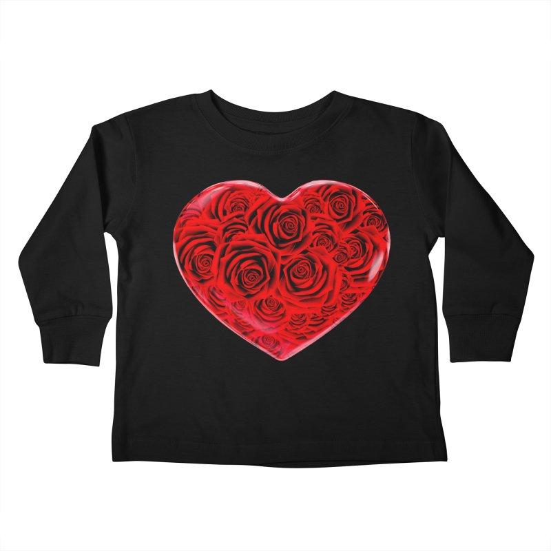 Red Roses Heart Kids Toddler Longsleeve T-Shirt by zuzugraphics's Artist Shop