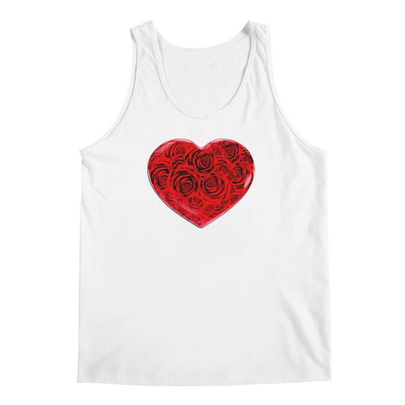 Red Roses Heart Men's Tank by zuzugraphics's Artist Shop
