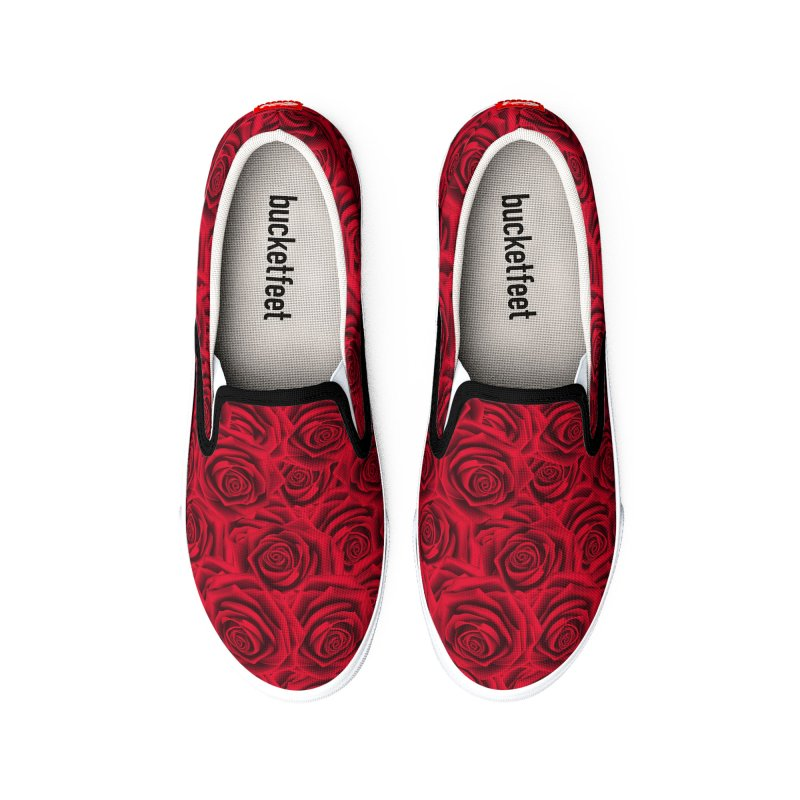 Red Roses Heart Men's Shoes by zuzugraphics's Artist Shop