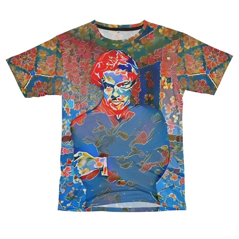 Portrait of a Young Immigrant Men's T-Shirt Cut & Sew by zuzugraphics's Artist Shop