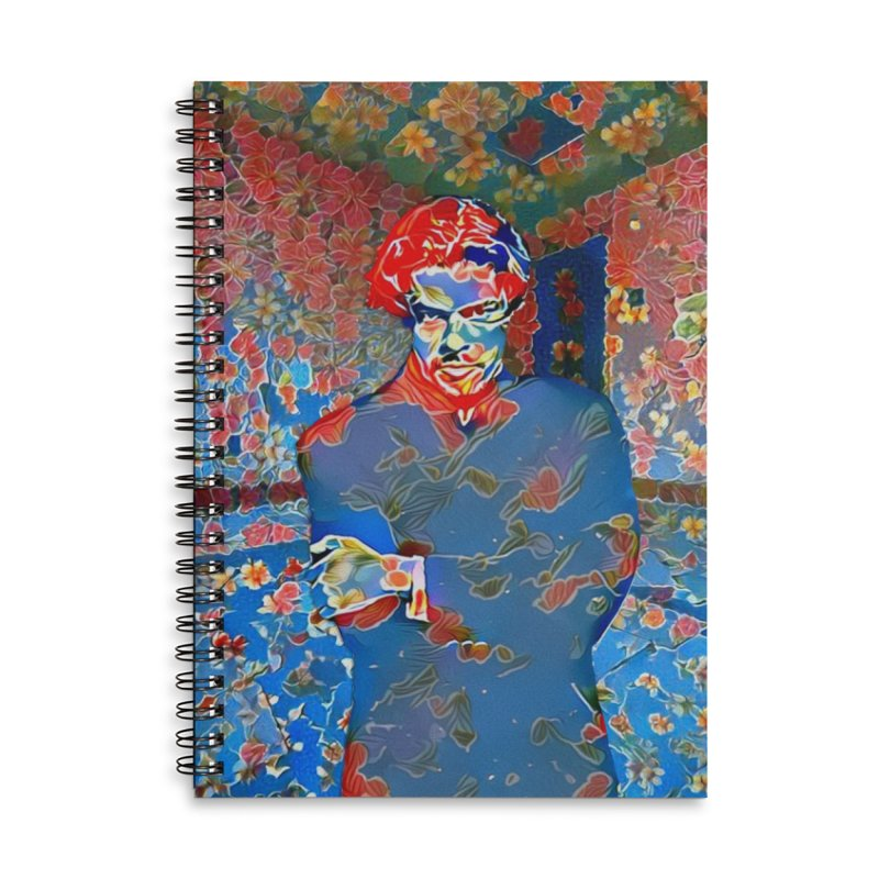 Portrait of a Young Immigrant Accessories Lined Spiral Notebook by zuzugraphics's Artist Shop