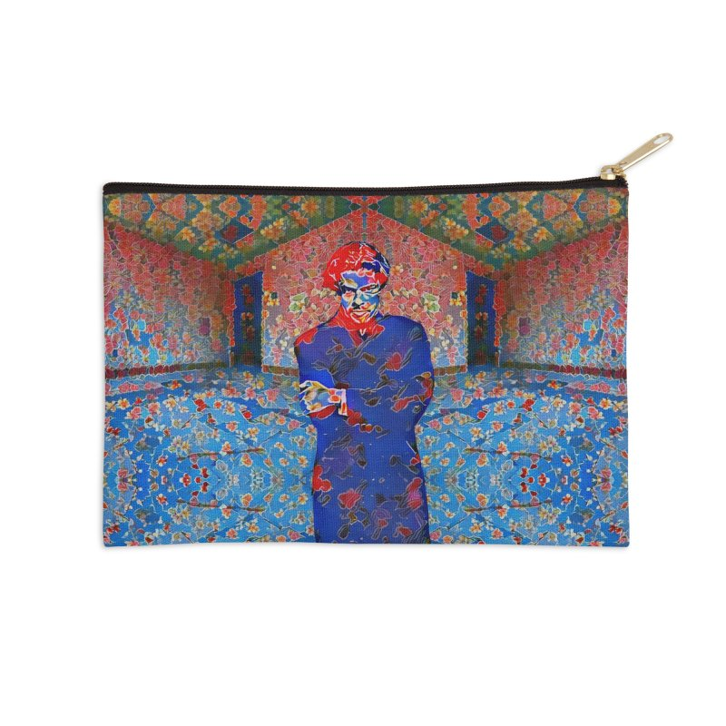 Portrait of a Young Immigrant Accessories Zip Pouch by zuzugraphics's Artist Shop