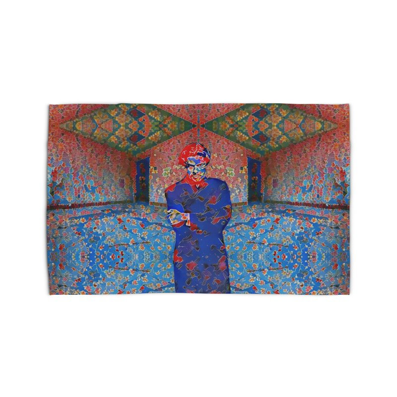 Portrait of a Young Immigrant Home Rug by zuzugraphics's Artist Shop