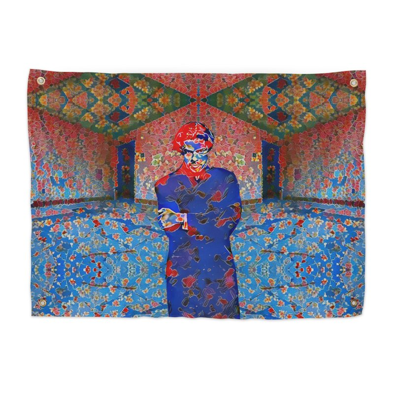 Portrait of a Young Immigrant Home Tapestry by zuzugraphics's Artist Shop