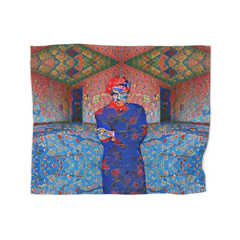Portrait of a Young Immigrant Home Fleece Blanket Blanket by zuzugraphics's Artist Shop