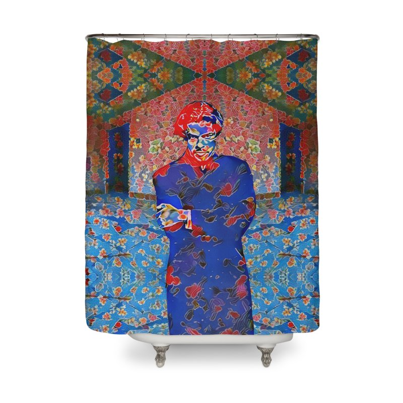 Portrait of a Young Immigrant Home Shower Curtain by zuzugraphics's Artist Shop