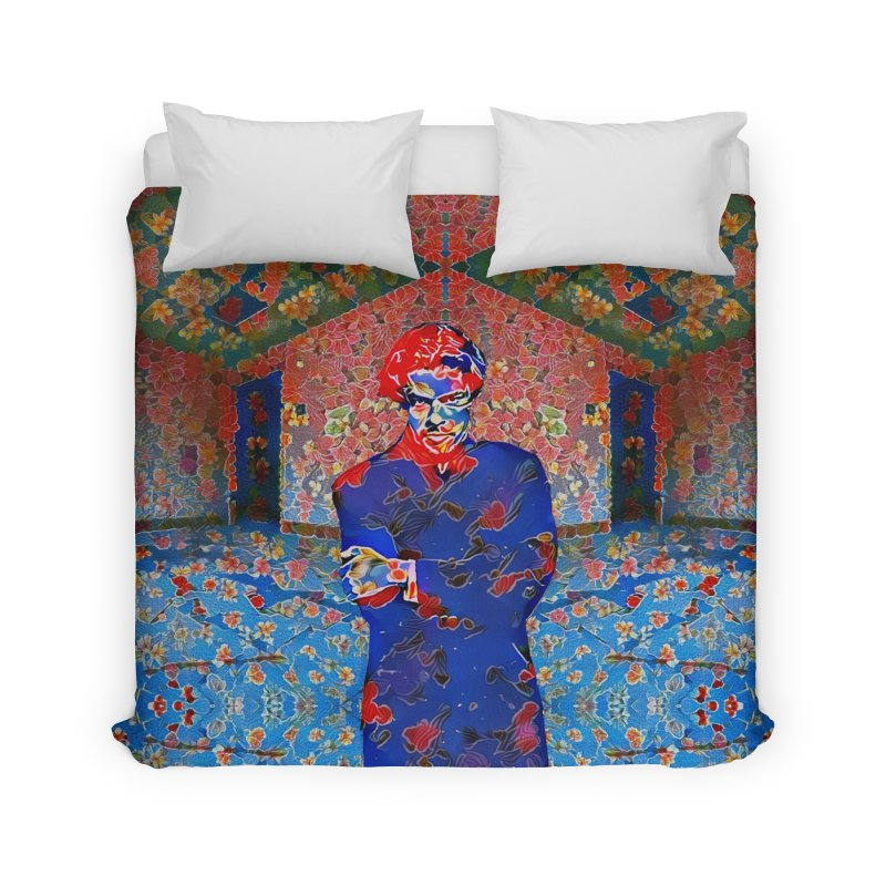 Portrait of a Young Immigrant Home Duvet by zuzugraphics's Artist Shop