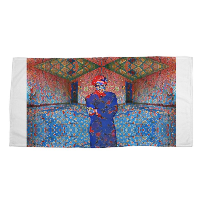 Portrait of a Young Immigrant Accessories Beach Towel by zuzugraphics's Artist Shop