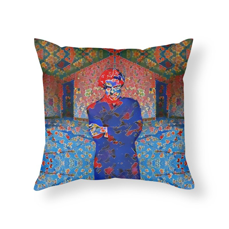 Portrait of a Young Immigrant Home Throw Pillow by zuzugraphics's Artist Shop