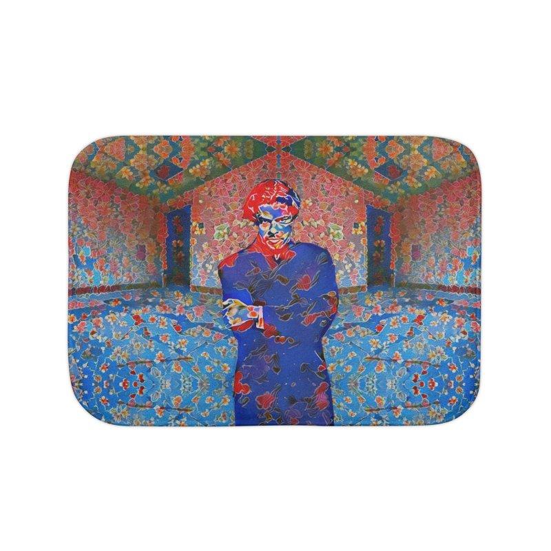 Portrait of a Young Immigrant Home Bath Mat by zuzugraphics's Artist Shop