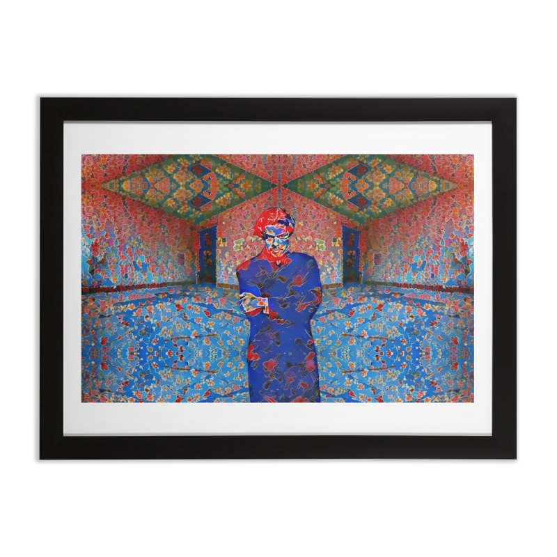 Portrait of a Young Immigrant Home Framed Fine Art Print by zuzugraphics's Artist Shop