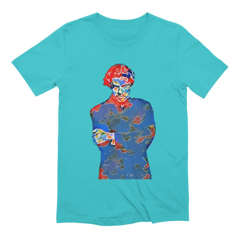 Portrait of a Young Immigrant Men's Extra Soft T-Shirt by zuzugraphics's Artist Shop